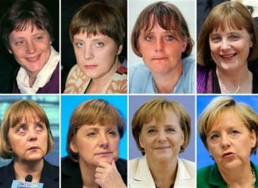 En esta evolución de Angela Merkel vemos como el uso del traje de chaqueta lleva en el mismo momento en el que ostenta un cargo político.