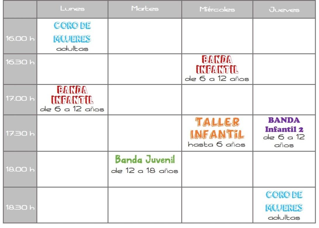 horario curso 19-20